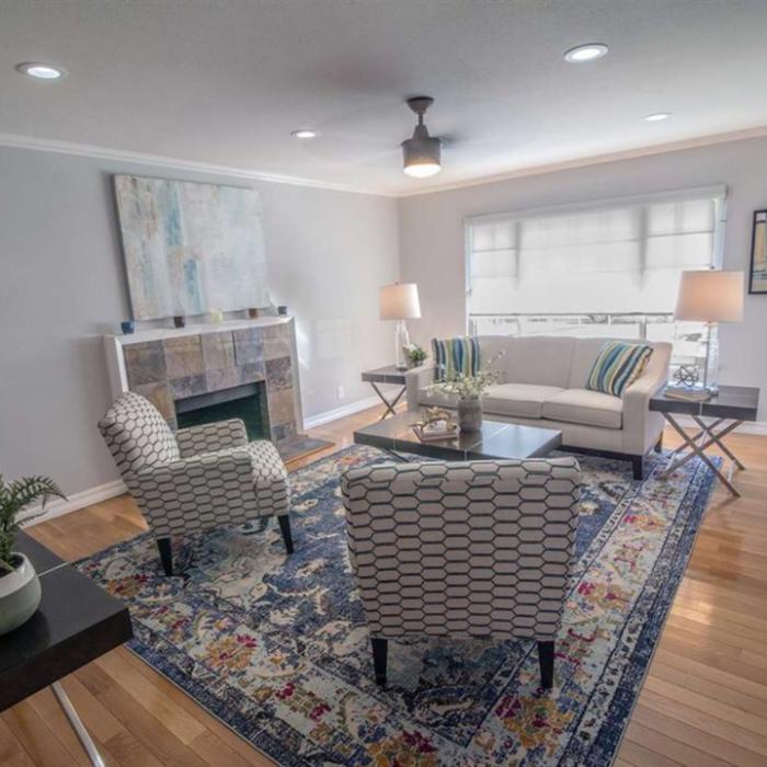Living Room & Family Bath Remodel